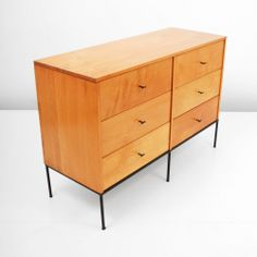 Paul McCobb; Maple and Enameled Iron 'Planner Group' Chest of Drawers for Winchendon, c1955.