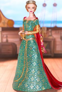 Spellbound Lover Barbie Doll- Another absolutely amazing Irish Barbie doll. I love her long hair, twisted back with ribbons! And her dress is magnificent!