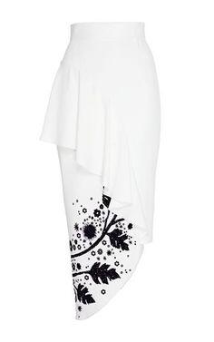 Leaf Printed Ruffle Skirt by Peter Pilotto Modest Fashion, Skirt Fashion, Fashion Dresses, Ruffle Skirt, Dress Skirt, Skirt Mini, Jupe Short, Plus Size Summer Dresses, Office Skirt