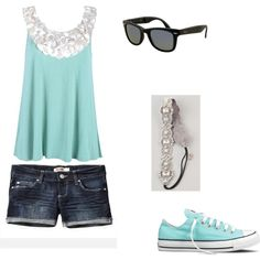 Summer Day,  created by emyliekay2014 on Polyvore