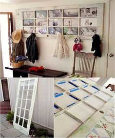 DIY French Door Picture Frame ........ http://diyfunideas.com ==========BEST DIY SITE EVER!