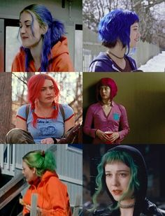 The different looks from Eternal Sunshine of the Spotless Mind & scott pilgrim vs the world Mary Elizabeth Winstead, Clementine Eternal Sunshine, Short Grunge Hair, Manic Pixie Dream Girl, Vs The World, Chef D Oeuvre, Aesthetic Hair, Kate Winslet, Film Serie