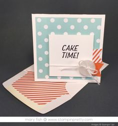 Stampin Up Party Pants Birthday Card Idea By Mary Fish StampinUp