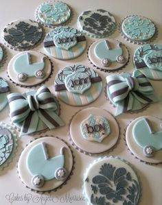 Baby shower cupcake toppers by CakesbyAngela on Etsy, $56.00