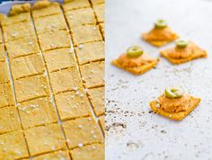Vegan Cheese Crackers with Namaste Gluten Free Flour Blend from Costco. Clean Eating with Arbonne Detox.