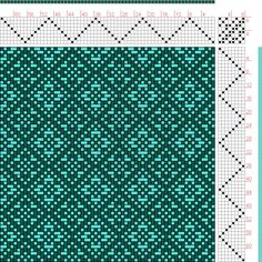 Hand Weaving Draft: Reversing Point Twill Flowers, Kris Bruland, 8S, 8T - Handweaving.net Hand Weaving and Draft Archive