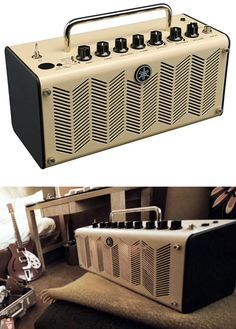 """Here's a decidedly niche electronic product with heavily retro looks: Yamaha's THR, """"a cross between a hi-fi stereo player and a guitar amp."""" Intended as an amp for the home guitarist, the THR can also be used as a portable speaker for your iDevice or similar."""
