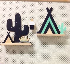 Image of Cactus Shelf Baby Decor, Kids Decor, Nursery Decor, Wood Crafts, Diy And Crafts, Crafts For Kids, Wooden Decor, Baby Store, Kids Furniture