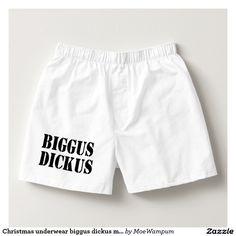Christmas underwear biggus dickus mens boxers