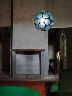 Dandelion pendant lamp by Burkhard Dämmer,fromthe Palacio de Casavells photo shoot. Photo byKlunderBie Studio.