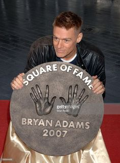 Bryan Adams Unveils His Plaque At Wembley Square Of Fame, Wembley Arena, London, Britain - 10 May 2007