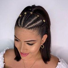 Braided Ponytail Hairstyles, Baddie Hairstyles, Box Braids Hairstyles, Hairstyle Ideas, Braids Into Ponytail, Kid Hairstyles, Cool Braids, Braids For Short Hair, Kid Braids