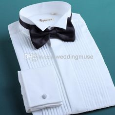 Wholesale Groom Shirts - Buy High Quality Fashion White Prom Party Men's Wedding Apparel 2014 Groom Wear Shirts DL1311272, $20.95 | DHgate