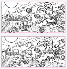 "Every bunny likes some fun… can youfind the 12 differences in these twophotos? If you find all 12 ""Love"" thispost!"