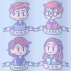 Dear Evan Hansen - Fan art by @preshfinn on Tumblr So cute!!