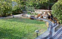 Aiuole con sassi cerca con google giardino pinterest for Mattoni tufo giardino