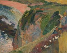 The Flageolet Player On The Cliff - Paul Gauguin 1889 French, 1848-1903