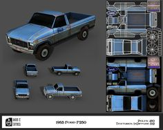 1985 Ford F250 Low Poly by thadeemon on deviantART