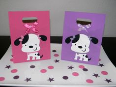 Puppy Birthday Party Favor Bags - Girly.