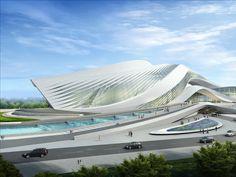 New Century City Art Centre - #Architecture - Zaha #Hadid Architects