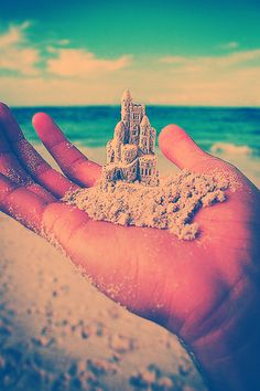 sand castle in my hand