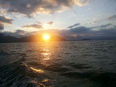 Por do sol em Ilha Grande