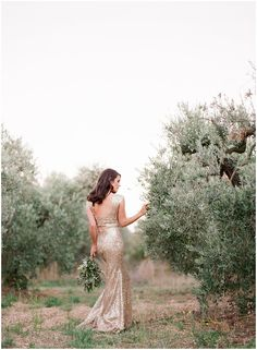 White and Gold Wedding. Elegant and Glamorous. The Golden Wedding Gown Amidst The Olive Groves // Gert Huygaerts Photography Gold Bridesmaids, Bridesmaid Dresses, Airbnb Wedding, Destination Wedding, Bridal Gowns, Wedding Gowns, Eclectic Wedding, Bridal Musings, French Wedding