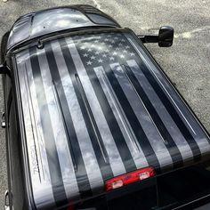 American flag roof graphic for my buddy @b_mitchell_22 on his new ram 2500 cummins megacab #American - nrl_designz
