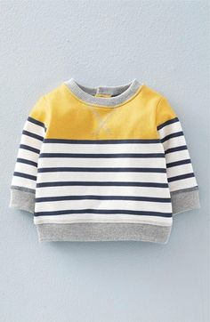 Mini Boden 'Cosy' Print Sweatshirt (Baby Boys & Toddler Boys) available at…