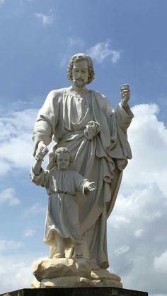 St Joseph Catholic, Catholic Saints, Religious Icons, Religious Art, Jesus Drawings, Catholic Pictures, St John Paul Ii, Religion Catolica, Jesus Art