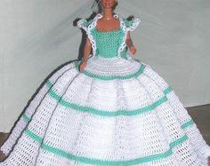 Crochet poupée Barbie Pattern - #683 Couturier ORIGINAL #11