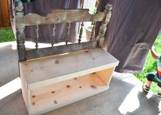 Our Love and Our Blessing: From Headboard To Bench