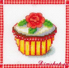 Embroidery set Vervaco 40359 Cake with rose