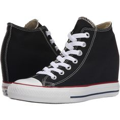 Converse Chuck Taylor All Star Lux Mid Women's Shoes ($65) ❤ liked on Polyvore featuring shoes, hidden wedge shoes, laced up shoes, star shoes, converse shoes and platform lace up shoes