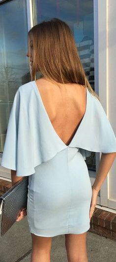 Inspired by the red carpets looks of the moment, this cape dress is daring and darling!