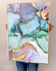 Buy posters with real metallic effect. Alcohol Ink Painting, Alcohol Ink Art, Creative Wall Painting, Wall Art Pictures, Resin Art, Printable Wall Art, Art Projects, Canvas Art, Art Prints