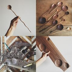 Ariele Alasko: brooklyn to west Wooden Spoon Carving, Carved Spoons, Wood Spoon, Wood Crafts, Diy And Crafts, Arts And Crafts, Whittling Projects, Diy Cadeau Noel, Small Wood Projects