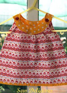 Tropical Colors for Santa Dress