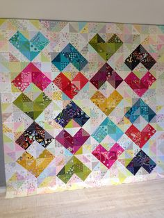 SEW KATIE DID:Warm and Cool Hearts Value Quilt FUll