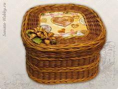 Поделка изделие Валентинов день Плетение Моя любимая шкатулочка Бумага газетная фото 1