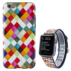"""Apple Watch Band,Kartice(TM) Fashion Girl Women Cute Silicone Watch Wrist Band Strap Metal Clasp for Apple Watch & Sport & Edition 42mm + Cute Soft Silcone Case Cover for iPhone 6/6S 5.5""""--Colorful Kartice http://www.amazon.com/dp/B015FFF0TA/ref=cm_sw_r_pi_dp_HTRrwb05JKR26"""