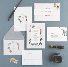Rachel Marvin Creative   Wedding Invitations   Mae