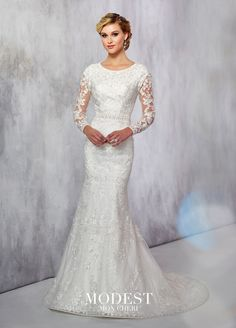 b15d992f mon cheri bridals wedding dress TR21717 - Novelty allover lace, embroidered  lace and tulle fit