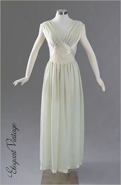 1940 Vintage lingerie actually have a similar gown from the 40's