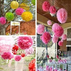 100pcs/LOT, 6'' Tissue Pom Pom Paper Pompoms Wedding Decoratons Party Poms House Decor, 25 Colors To Pick $27,44