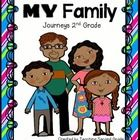My Family (Mi Familia) (Lesson 2, Unit 1)   (6 Literacy Centers) + Worksheets, Booklets, (82 Pages) Common Core Aligned  **Supplemental activities ...