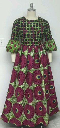 10 Stunning Electric Bulb Ankara Outfits You Cannot Resist on Mondays Greetings! Here are 50 Creative, Stylish and Dazzling Ankara Styles 2018 For Inspiration on how to style your Ankara prints and rock it. African Maxi Dresses, African Fashion Ankara, Latest African Fashion Dresses, African Dresses For Women, African Print Fashion, African Attire, African Wear, Africa Fashion, African Traditional Dresses