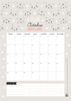 Calendrier 2013 DIY Zü OCTOBRE 2013 free printable - calendar october by Zü