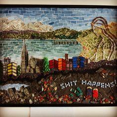 An artist's mosaic sums up the Christchurch earthquake.