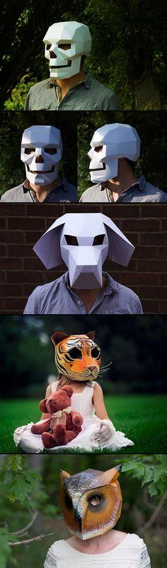 Máscaras de papel!! °¬°                                                                                                                                                                                 Más